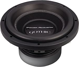 POWER ACOUSTIK GW3-10 Gothic Series 2ohm Dual Voice-Coil Subwoofer (10, 2,200 Watts) - ONE YEAR Warranty