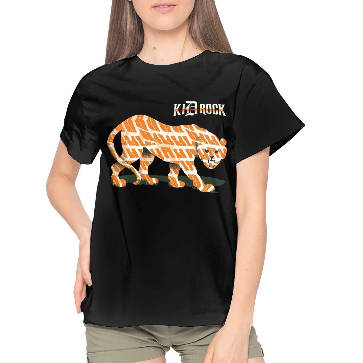 Rock Logos Cheetah Comfortable Short Sleeve Singer Music Band T Shirts 4547