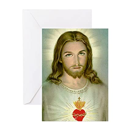 Amazon Cafepress 2 Jesus Greeting Card Note Card