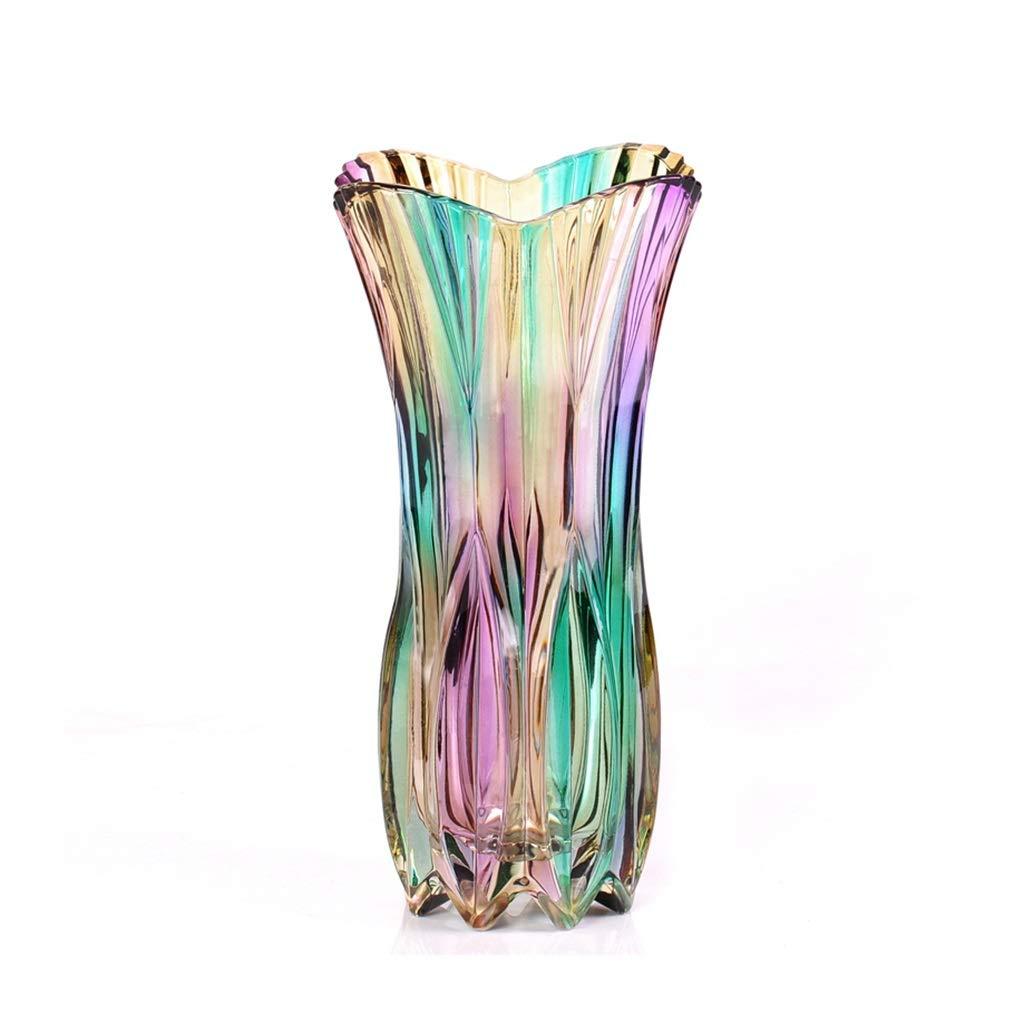 化粧台花瓶、ガラス色透明装飾花瓶花デスクトップコーヒーテーブルダイニングテーブルドライフラワー花瓶 (サイズ さいず : 15.5*30CM) B07QYT237Q  15.5*30CM