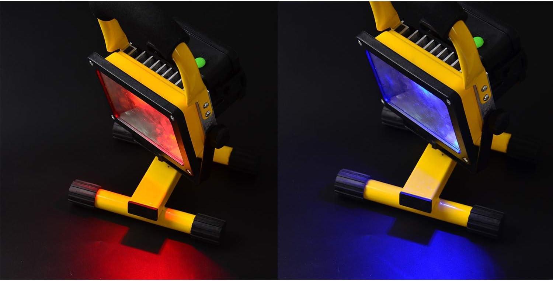 Temgin Proyector LED para exteriores 30W Focos IP65 Iluminaci/ón de seguridad recargable Bater/ía incluida Blanco fr/ío para taller Remodelaci/ón del hogar Jard/ín Camping Garaje