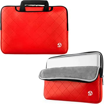 Compatible with The MSI GS32 6QE Shadow Laptop DURAGADGET Red 13 Water /& Shock Resistant Neoprene Case