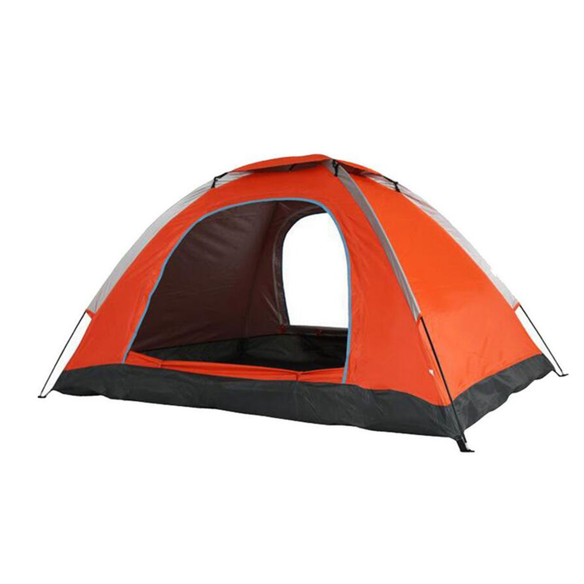 TZQ Feste Schöne Haltbare Einzelne Paar-Doppeltes Draußen Kampierende Zelte,Orange