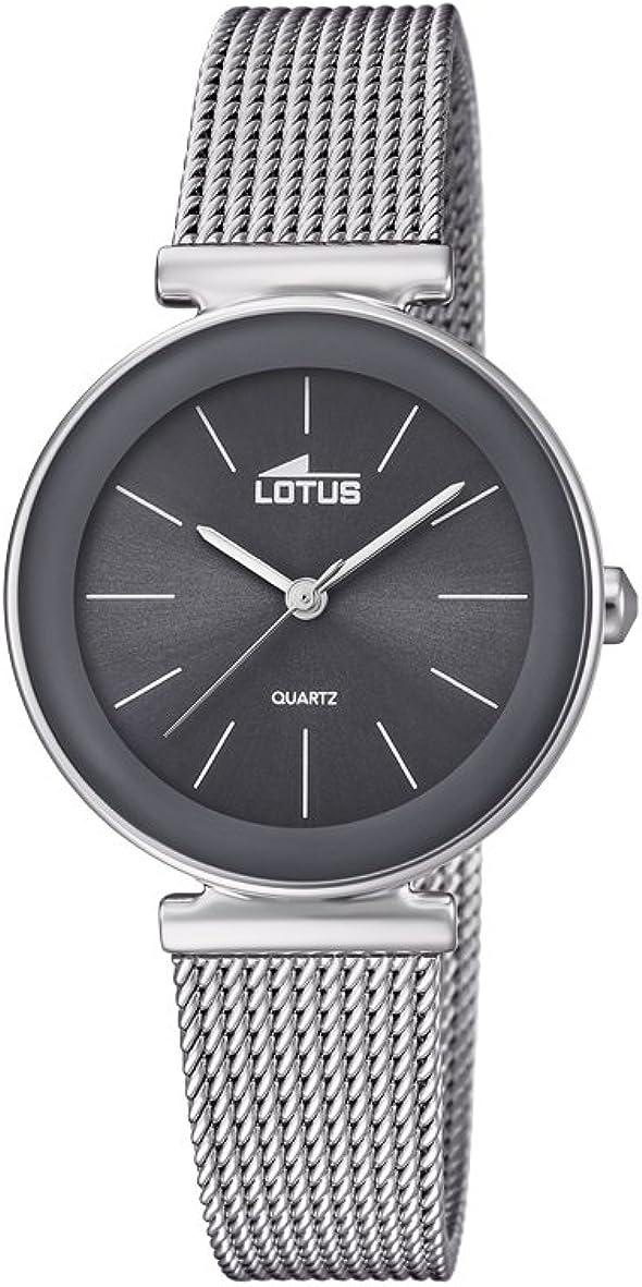 Lotus Watches Reloj Análogo clásico para Mujer de Cuarzo con Correa en Acero Inoxidable 18434/2