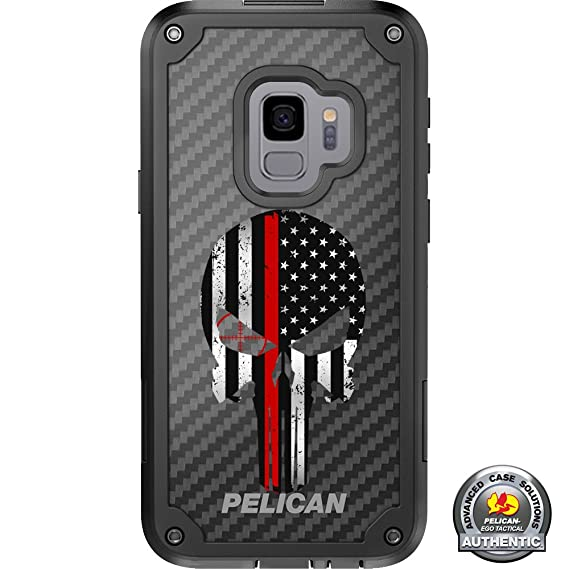 check out d9fee 12151 Limited Edition Pelican Shield Case for Samsung Galaxy S9+ Plus Designs by  Ego Tactical with up to 24-Foot Drop Protection: Subdued US Flag Punisher  ...