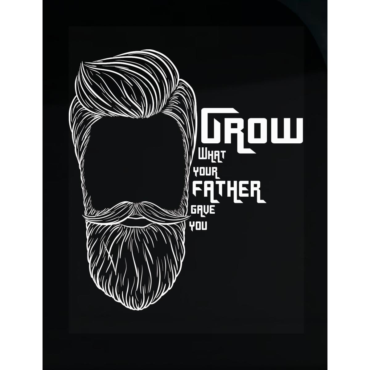 Amazon com grow what your father gave you beard man awesome design sticker home kitchen