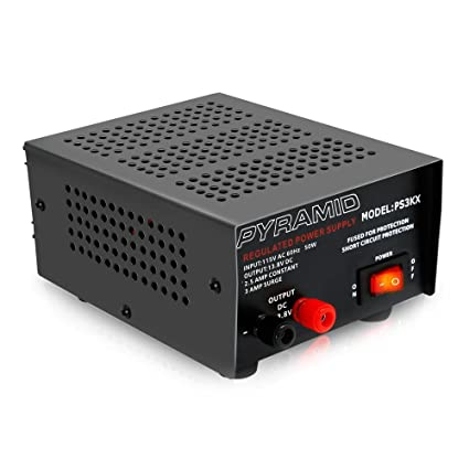 Universal Compact Bench Power Supply - 2 5 Amp Linear Regulated Home Lab  Benchtop AC-to-DC 12V Converter w/ 13 8 Volt DC 115V AC 50 Watt Power  Input,