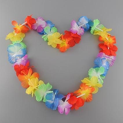 ordine Nuova autentico Soledi - Confezione da 10 collane di fiori hawaiani ...