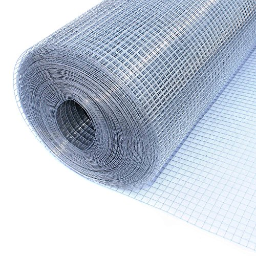 ALEKO WM48X100M1/2G19 Mesh Wire Roll Cloth, 19 Gauge Steel For Garden Fencing, Poultry Enclosures, Insulation Retainers, Storage Bins, Decorative Supports by ALEKO