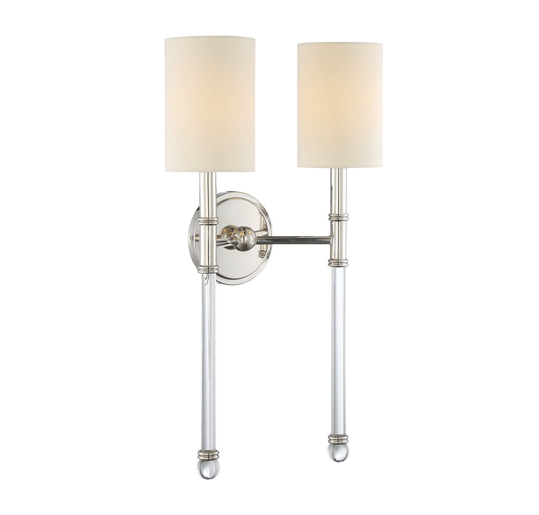 Savoy House 9-103-2-109 Fremont 2-Light Sconce in Polished Nickel by Savoy House