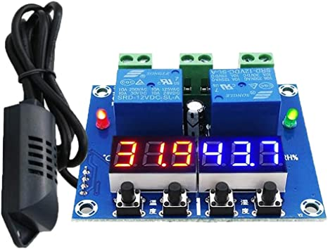 12V LED Digital Display Thermostat Temperature Humidity Controller W1209 XH-M452