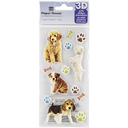 Paper House Productions Puppies 3D Puffy Stickers,