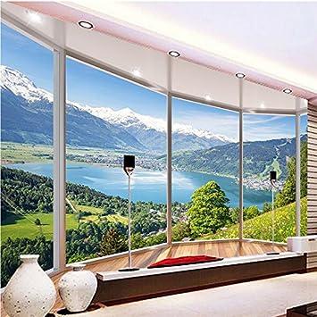 Ohcde Dheark Custom 3D Wandbild Tapeten Modern Creative Balkon ...