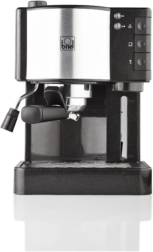 Briel ES35 Cafetera espresso, 1260 W, 1.8 litros, Plástico, Negro: Amazon.es: Hogar