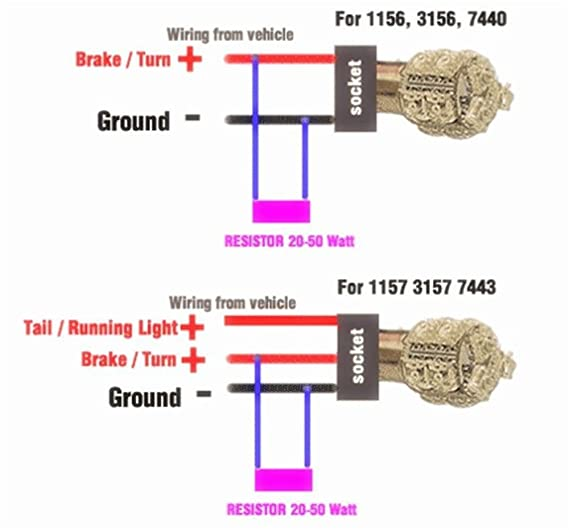 1157 socket wiring diagram for wiring diagram todaysamazon com prime autobots 50w 6 ohm led load resistors for led turn 1157 tail light socket 1157 socket wiring diagram for
