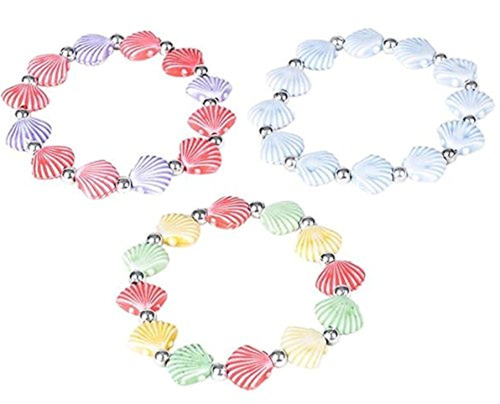 12 pack MERMAID fashion Seashell Bracelets toyco