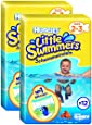 Huggies Little Swimmers Nappies - Size 2-3, 2 x Packs of 12 (24 Nappies)