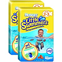 Huggies Little Swimmers – Pañales Tamaño 2 – 3, 2 x Paquetes