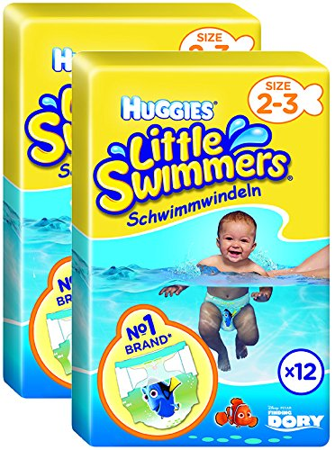 Huggies Little Swimmers Nappies - Size 2-3, 2 x Packs of 12 (24 Nappies) by Huggies 2183411