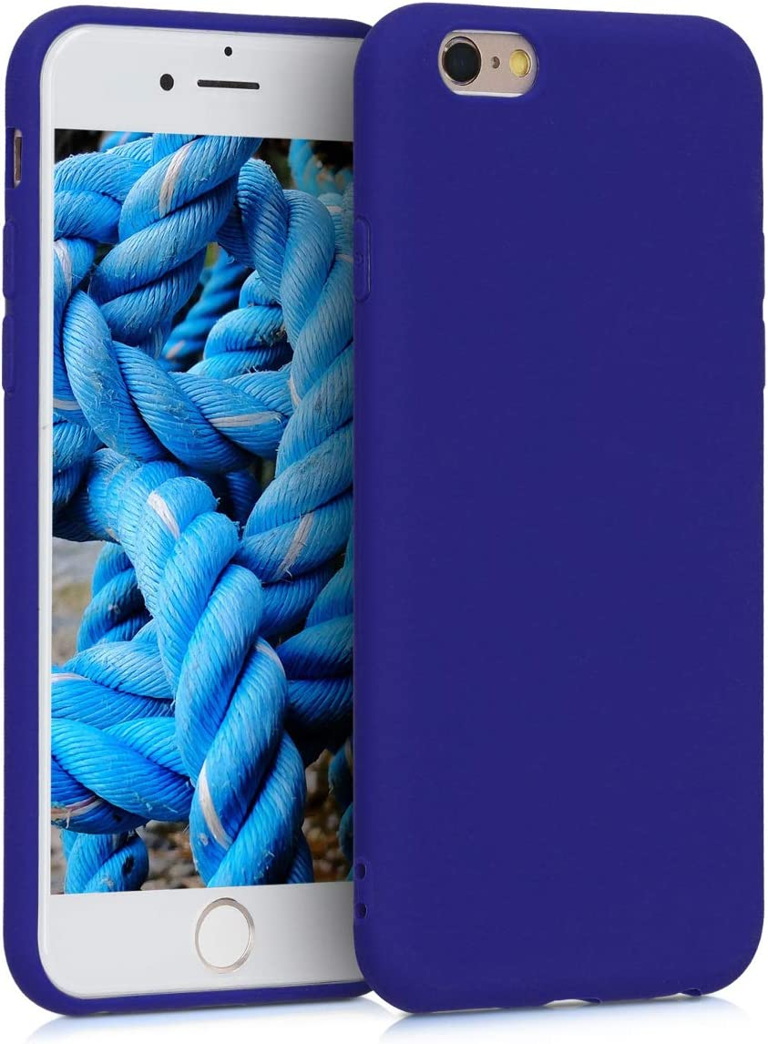 kwmobile TPU Case Compatible with Apple iPhone 6 / 6S - Case Soft Thin Slim Smooth Flexible Protective Phone Cover - Royal Blue