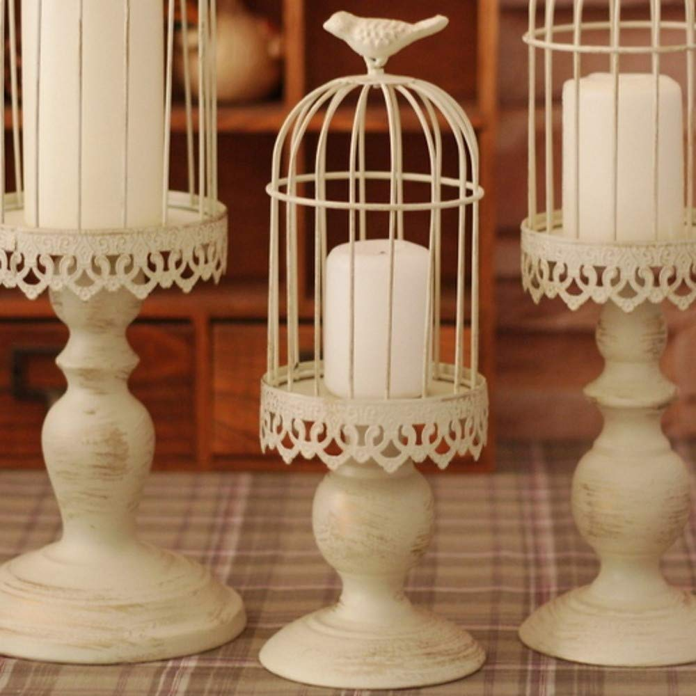 Yunqir Candlestick European Style Iron Candle Holders Candlestick Candlestick Decorated Table Centre Christmas Decoration Candelabra
