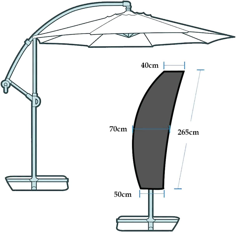 Copriombrellone Oxford Impermeabile Homitt Copertura Protettiva per Ombrellone Patio Umbrella Cover per 2.13m-3.35m Antistrappo Nero