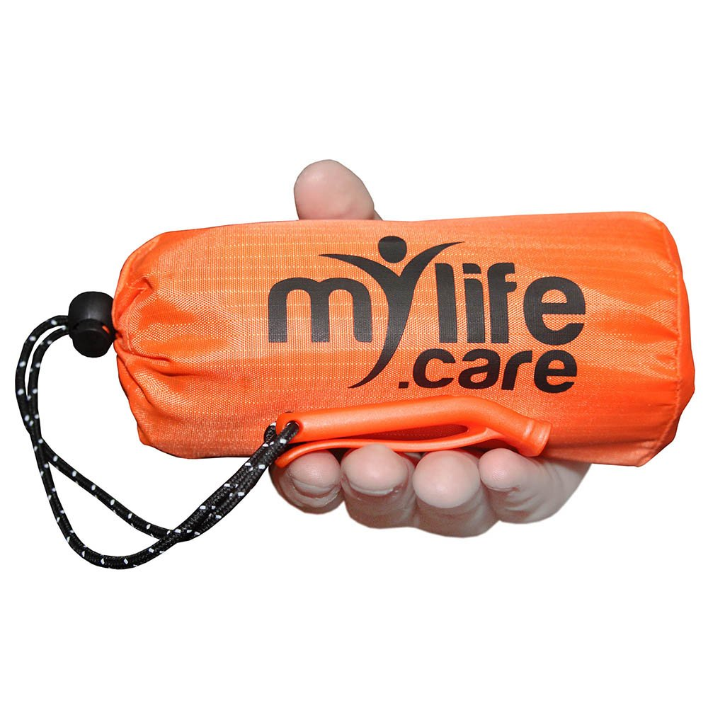 MyLifeCare Emergency Sleeping Bag: Ultimate Bivvy Survival Sleeping Bag + Emergency Whistle | Emergency Blanket | Waterproof Windproof Thermal Bivy | Survival Equipment Set for Wilderness Exploration