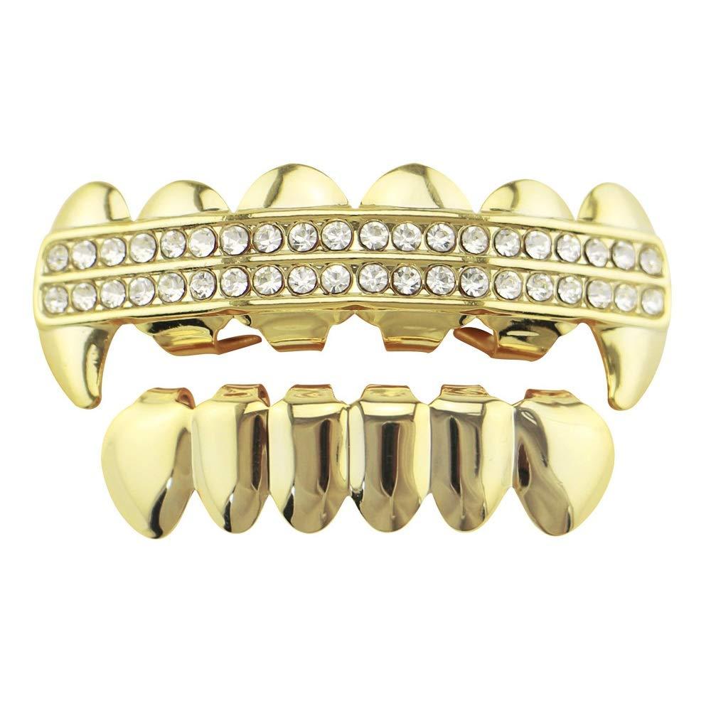 Parrillas de dientes de Hip Hop Chapado en oro Dientes de ...
