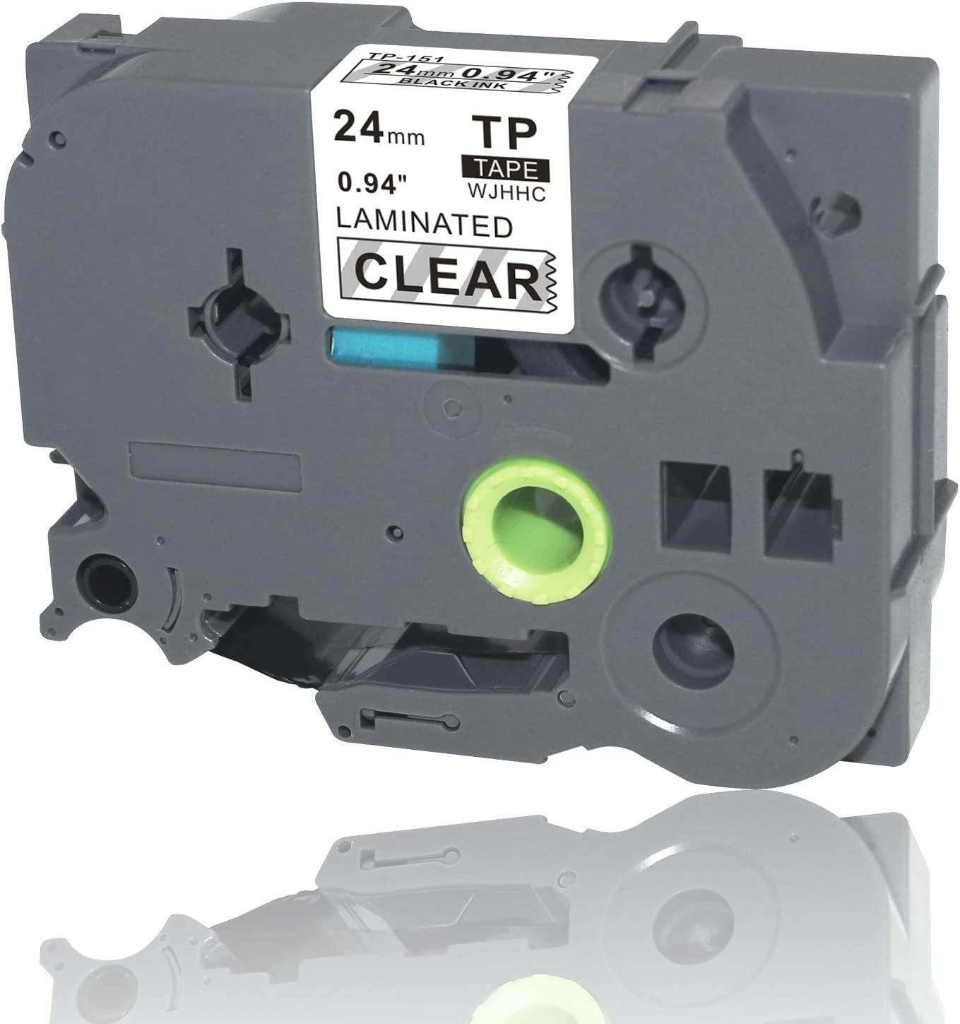 """1PK TZ151 Tze151 Black on Clear Label Tape for Brother P-Touch PT-1900 24mm 1/"""""""