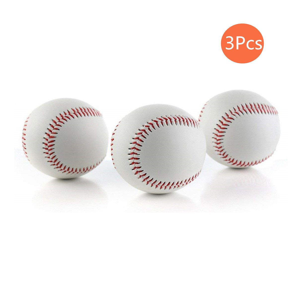 CZ-XING Hohe Qualität 22, 9cm Zoll Handgefertigt Basebälle PVC Obermaterial Gummi Innen Weiche und Harte Baseball Softball Bälle für Training Übung CZ-XING Hohe Qualität 22