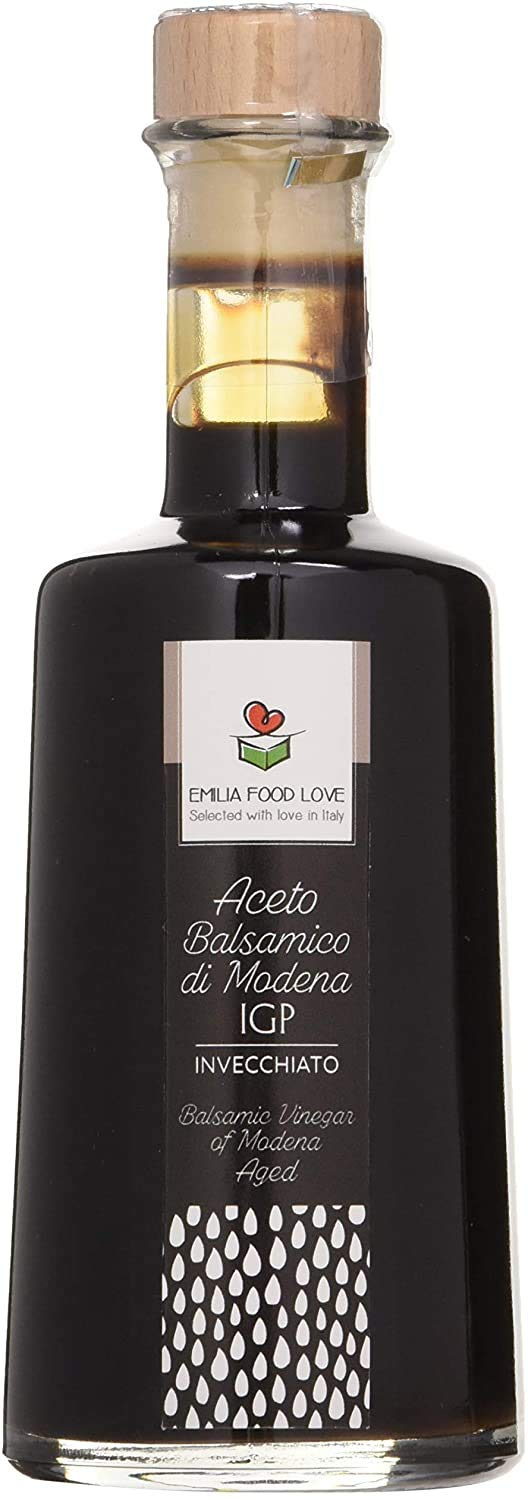 Balsamic Vinegar of Modena IGP AGED - Made in Italy - EMILIA FOOD LOVE - Selected with Love in Italy - Aceto Balsamico di Modena IGP Invecchiato