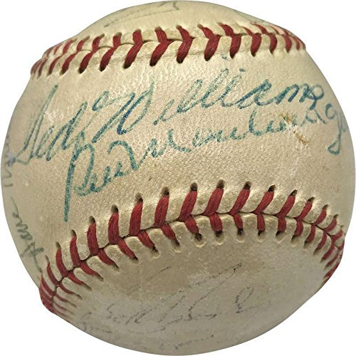Ted Williams Gaylord Perry Whitey Ford Pesky Signed Autographed Baseball - JSA Certified - Autographed Baseballs Gaylord Perry Autographed Baseball
