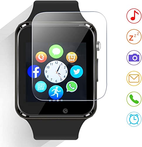 Qidoou Smart Watch Fitness Tracker,Smartwatches Compatible Android iOS Touchscreen Step Calorie Sleep Sedentary Monitor Waterproof, Call Message Music with SIM SD Slots Men Women Black