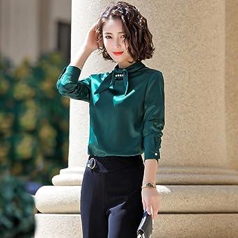SJHJA Blusas Y Camisas para Mujer Camisa Lazo Mujer Cuello ...
