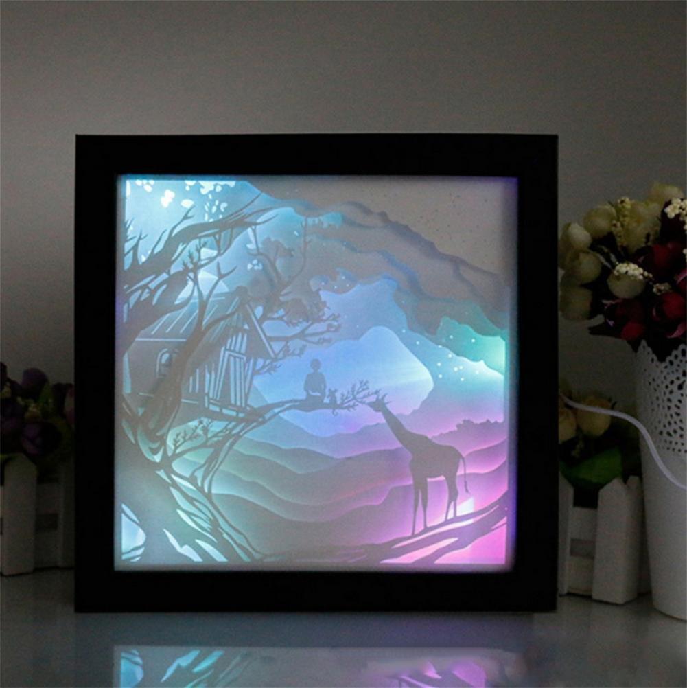 Lh&Fh Home Stereo Licht Papier geschnitzt Licht Bilderrahmen ...