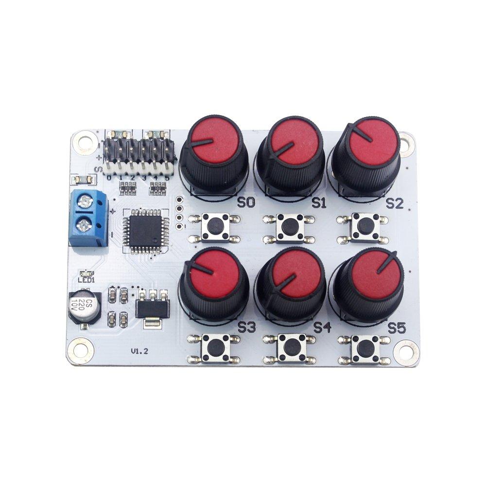 LewanSoul 6チャンネルデジタルサーボテスター過電流保護付き B073XZH264