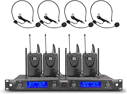 Stable UHF Hands-free UPGRADED Cordless Mic Professional Wireless Microphone