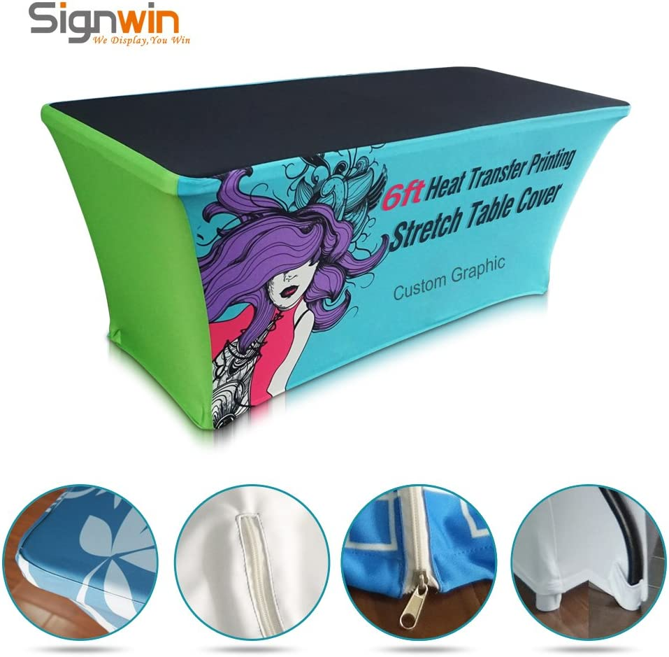 Signwin Trade Show Table Cover 6ft Logo Printing 4 Sides Stretch Fabric
