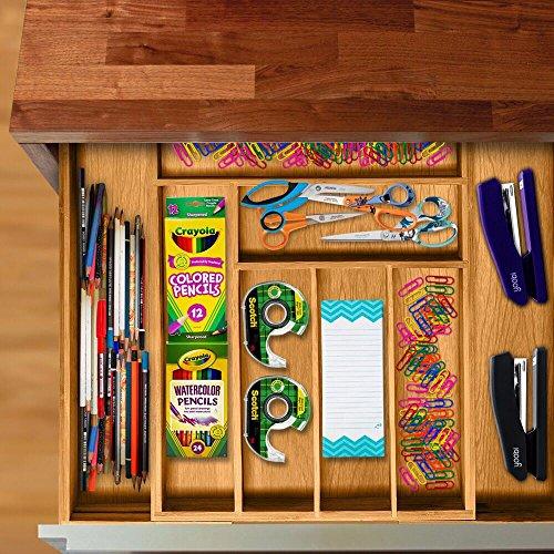 Utensil Drawer Organizer, Bamboo Silverware Organizer Expandable Kitchen Drawer Organizer Cutlery Tray. By: Bambüsi by Bambüsi (Image #8)