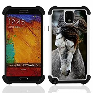 King Case - pony horse mane beautiful animal grey - Cubierta de la caja protectora completa h???¡¯???€????€?????brido Body Armor Protecci?