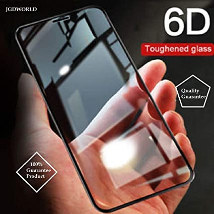 JGDWORLD Tempered Glass for Vivo Y95 (Black) Edge to Edge Full Screen  Coverage with easy installation kit