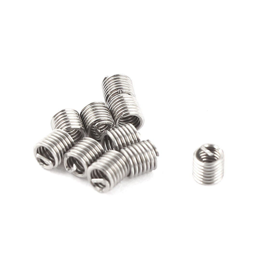 sourcingmap M2 x 0.4mm x 2D V-Coil Wire Helicoil Thread Repair Inserts 10Pcs a15061000ux0394