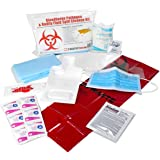 21 Piece Bodily Fluid Clean Up Pack/Bloodborne Pathogen Spill Kit - be OSHA Compliant and Protect from Dangerous…
