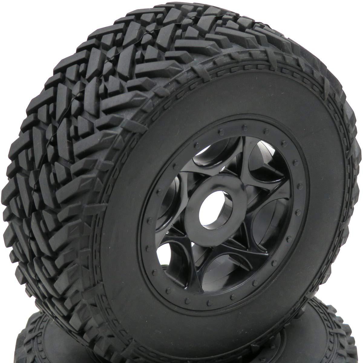 4pcs RC 1//8 Buggy Off Road Short Course Tires /& Hex 17mm Wheels Rims For 1:8 Car