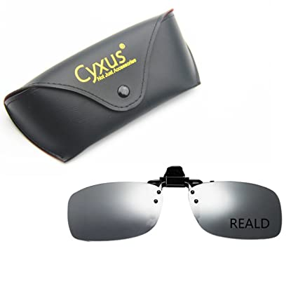 1fbf9073e2c Image Unavailable. Image not available for. Color  Cyxus 3D Clip-on Eyewear  for TV Cinema Movie Polarized Glasses (RealD