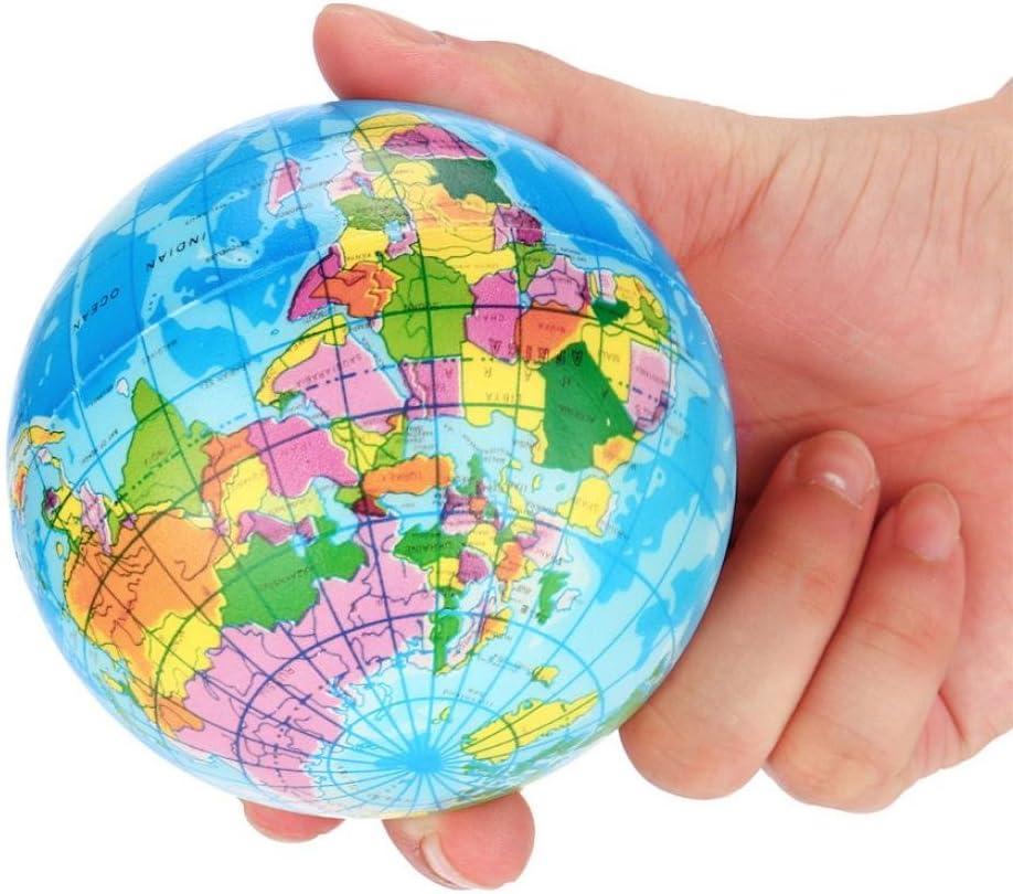 Creazy Stress Relief bola de espuma de mapa del mundo Atlas globo ...