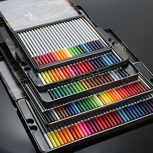 MAZIMARK--72 Water Soluble Water Color Wooden Pencil Artists Drawing Sketching - Stores Mall Ne