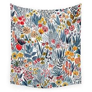 "Flowers Wall Tapestry Medium: 68"" x 80"": Mouni Feddag: Home & Kitchen"