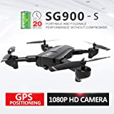 Docooler SG900-S GPS RC Drone with Camera 1080P WiFi FPV Follow Me Surround Mode Multi-Point Fly Altitude Hold Foldable RC Quadcopter 20mins