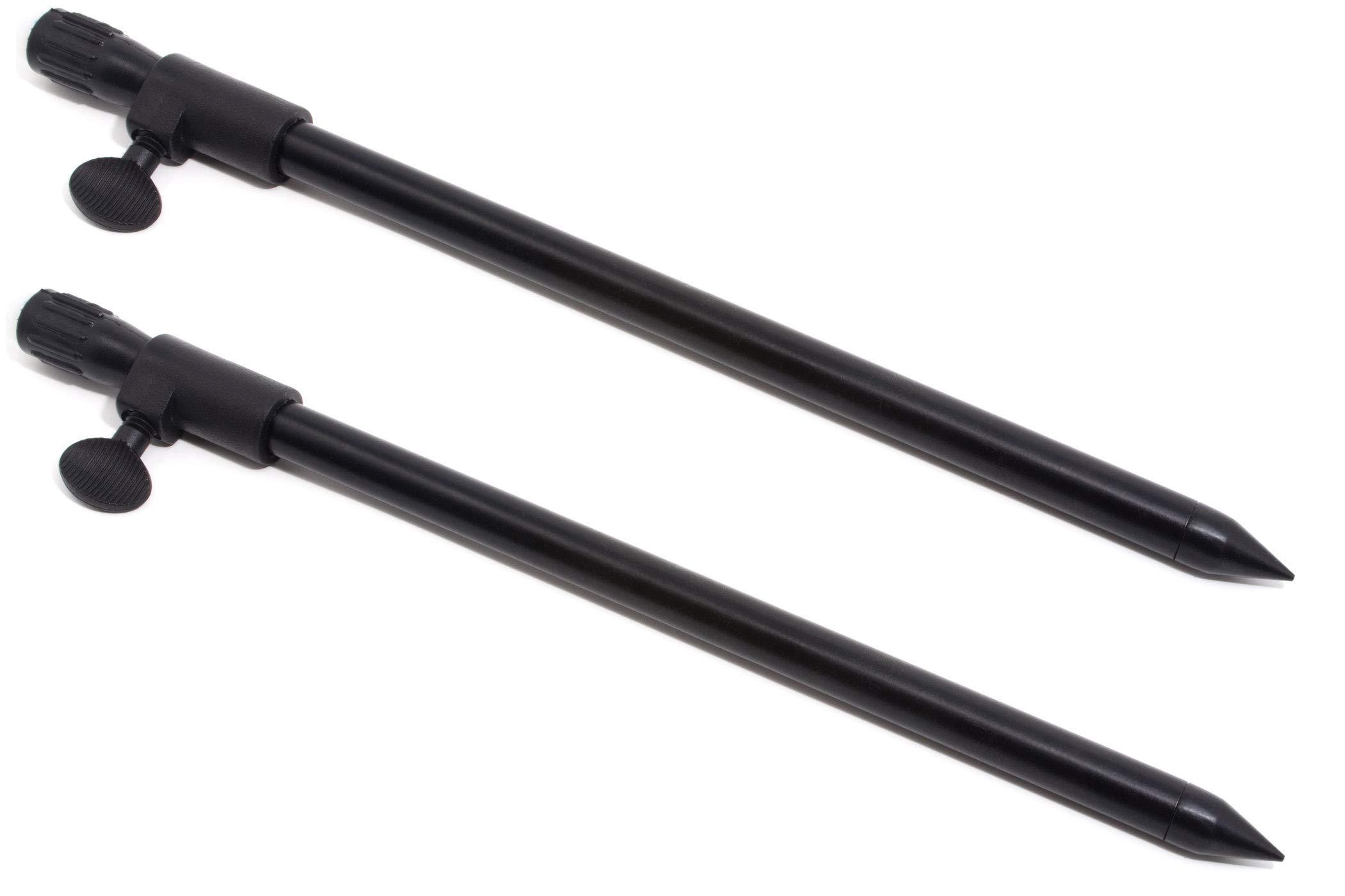 BZS Telescopic Black Aluminum Banksticks 30-50cm and 50-90cm